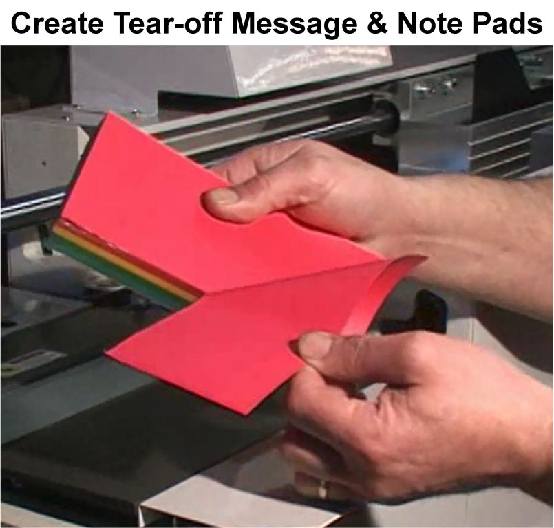 Create tear-off pads on the digibinder